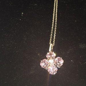Jewelry - Pretty pink diamonds and white diamond simulants